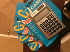 Casio Solar-Powered Standard Calculator Battery Backup (8 Digits) Large Display