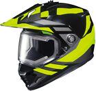 Hi-Viz Neon DS-X1 Lander MC-3HSnow Helmet w/Frameless Electric Shield X-Large