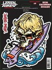 COOL SURF SKULL on a SURFBOARD Car RV VINYL STICKER/DECAL Art by Lethal Threat