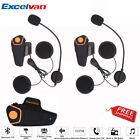 2x Bluetooth 1000m FM BT Motorcycle Helmet Intercom Headset Radio 2 or 3 Riders