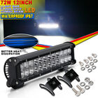 12Inch 72W LED Work Light Bar For Offroad JEEP FORD UTE SUV Heavy-Duty Golf Cart