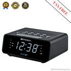 Programmable SmartSet Digital Alarm Clock w AM/FM Radio, Automatic Time Setting