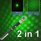 5mw 532nm Visible Beam Light Green Laser Pointer Pen Star Cap Projector KL114