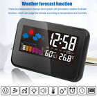 Thermometer Humidity Meter Hygrometer Room Temperature Deck Clock LCD Digital