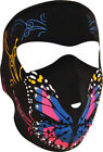 Zan Headgear Neoprene Full Face Mask Highway Honeys Butterfly Cold Gear WNFM041B