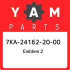 7KA-24162-20-00 Yamaha Emblem 2 7KA241622000, New Genuine OEM Part