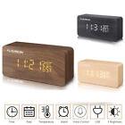 FLOUREON USB Cable Digital Desk Alarm Clock Calendar/Time/Temperature 5V/500MA