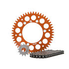 Primary Drive Alloy Kit & X-Ring Chain Orange Rear Sprocket - Fits: Husqvarna FX