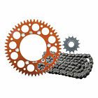 Primary Drive Alloy Kit & O-Ring Chain Orange Rear Sprocket - Fits: Husqvarna FC