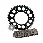 Primary Drive Alloy Kit & O-Ring Chain Black Rear Sprocket - Fits: KTM 450 SX-F