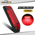 5x Red Lens LED Strip Light Maker Light 4inch Utility Light,Anywhere Need Light