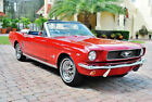 1966 Ford Mustang Convertible with 77k Actual Miles 1966 Ford Mustang Convertible C Code, Power Steering, Automatic