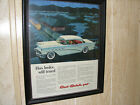 1956 Buick Ad 11x14 Century Beautiful Color with Train in West Virginia