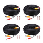 Bnc Cable 4x150ft All-in-One Siamese Video and Power Security Camera Extension W