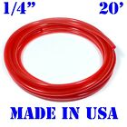 "20 feet 1/4""ID / 6mm Fuel Line Cycle ATV Gas Dirt Bike JetSki Hose Tube RED"