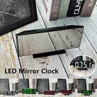Digital Mirror Surface Snooze Alarm Clock LED Display Screen Room Decor Gift