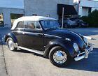 1958 Volkswagen Beetle - Classic  1958 Volkswagen Karmann Kabriolett Convertible Fully Restored CLASSIC VW bug BLK
