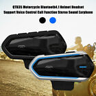 Bluetooth Motorcycle Helmet Interphone Intercom Headset Handsfree Music FM Radio