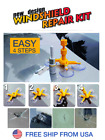 DIY Car Wind Glass Windscreen Windshield Repair Tool Kit Yellow For Chip Crack