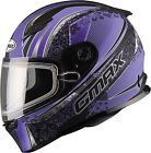 GMAX FF49 Elegence Snow Helmet G2492593 TC22 XS Black/Purple
