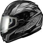 GMAX GM64S Modular Snow Carbide Helmet G2641543 TC-5 XS Gloss Black/Dark Silver