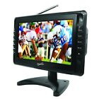 "10"" PORTABLE LCD TV TELEVISION USB SD MP3 PLAYER AC/DC 12V CAR TRUCK RV BOAT NEW"
