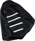 Parts Unlimited 0821-2886 Gripper Seat Cover Black/White