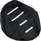 Parts Unlimited 0821-2893 Gripper Seat Cover Black/White