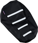 Parts Unlimited 0821-2885 Gripper Seat Cover Black/White