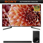 "Sony XBR75X900F 75"" 4K HDR UHD LCD TV 3840x2160 & HTX9000F Dolby Atmos Soundbar"