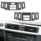 Interior Central Air Conditioner Outlet Cover Trim for BMW E90 E92 E93 Carbon