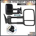 Manual For 88-98 Chevy Gmc C/K 1500 2500 3500 Tahoe Towing Side Mirrors Pair Set