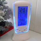 DI- LED Digital Alarm Clock with Blue Backlight Exquisite Calendar Thermometer