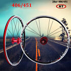 V/Disc Brake 20er 406/451 Bike Wheelset Bicycles Rim Wheel Set 7/8/9/10 Speed