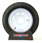 "(2)-Trailer Tires 4.80x12 Load Range C 4.80-12, 480x12 4 Bolt White 12"" Wheel"