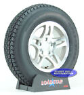 "(2)-Boat Trailer Tires LoadStar ST 205/75D14 Aluminum Rims 5 Bolt 14""Wheel"