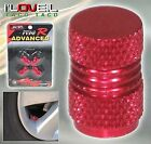 TOYOTA CELICA COROLLA MR2 CAMRY ALUMINUM RED ANODIZED WHEEL TIRE STEM VALVE CAPS