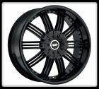 "22"" AVENUE A603 BLACK WHEELS RIMS & 37X13.50X22 LT NITTO TRAIL GRAPPLER TIRES"