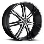 "Strada Diablo 26"" Black M Wheels&Tires fitChevy Cadillac GMC Ford Escalade Titan"