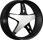 """22"""" Strada Dolce Black M Wheels rims&Tires fit F150 300 Charger Escalade Tahoe"""