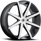 """24"""" Strada Dolce Black M Wheels rims&Tires fit 300 Charger Escalade Tahoe F150"""