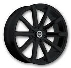 """24"""" Strada Magia Black M Wheels rims&Tires fit 300 Charger Escalade Tahoe F150"""