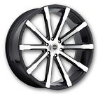 """24"""" Strada Magia Black Wheels rims&Tires fit 300 Charger Escalade Tahoe F150"""