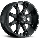 17x9 Black Raceline Assault 991B 5x5.5 +0 Rims Trail Grappler LT285/75R17