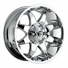 18x9 Chrome Fuel Octane D520 5x4.5 & 5x5 +1 Rims Terra Grappler 285/60/18
