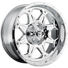 18x9 Chrome Fuel Boost 6x135 & 6x5.5 -12 Wheels Nitto Mud Grappler 33X12.5X18