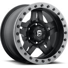 17x8.5 Black Fuel Anza D557 5x5 +6 Rims Nitto Mud Grappler 35X12.5X17 Tires