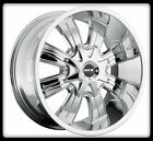 "20"" MKW M82 CHROME RIMS & TOYO LT315-60-20 OPEN COUNTRY MT TIRES GM CHEVY WHEELS"
