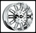 "17"" MKW OFFROAD M80 CHROME RIMS & NITTO 35X12.50X17 MUD GRAPPLER TIRES WHEELS"