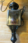 antique cariage or vtg auto car lamp light now electified glass front